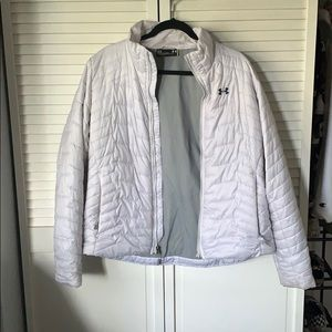 Under armour white puffer jacket